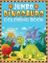 jumbo dinosaurs coloring book