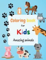 Coloring Book For Kids - Amazing Animals