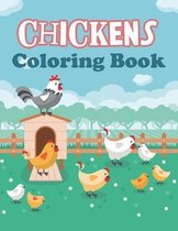 Chickens Coloring Book