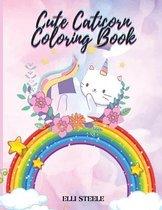 Cute Caticorn Coloring Book