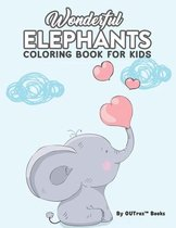 Wonderful Elephants Coloring Book For Kids