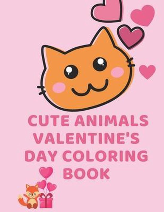 Cute Animals Valentine's Day Coloring Book
