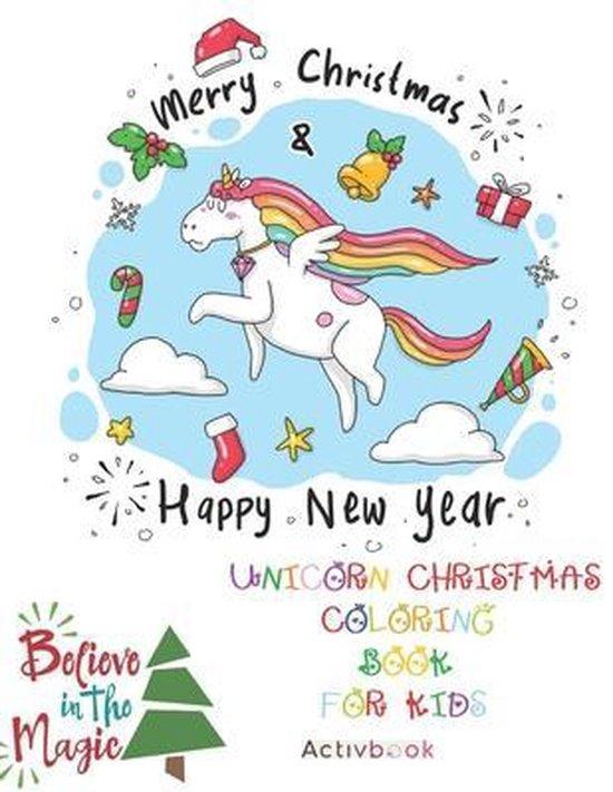 Unicorn Christmas Coloring Book for Kids