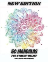 New Edition 50 Mandalas For Stress-Relief Adult coloring Book