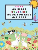 Cute Animals Coloring Book for Kids 4-9 Ages
