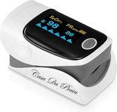 Casa Da Praia - Digitale vingertop Pulse Oximeter - Zuurstofmeter - Hartslagmeter - Saturatiemeter - incl. opbergtas en draagkoord