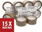 Verpakkingstape PP bruin   -  RL Premium   -  15 rollen
