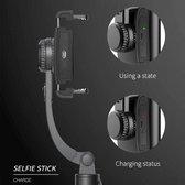 Q08 - Anti shake portable Gimbal – smartphone stabilizer - op afstand bestuurbaar – inclusief statief – selfiestick – 360 * horizontaal en verticaal