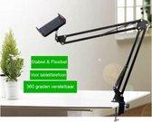 Greenure Flexibele Tablet / Telefoon Houder Arm 70 cm – Tablet houder - Telefoonhouder Statief - Stevige Tablethouder - 360 graden Draaibaar - 4 tot 11 Inch''