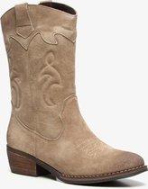 TwoDay suede dames cowboy western laarzen - Beige - Maat 38