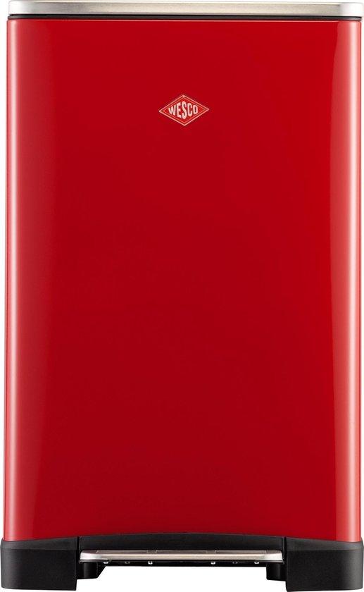 Wesco Big Double Boy Prullenbak - 2x18 l - Rood