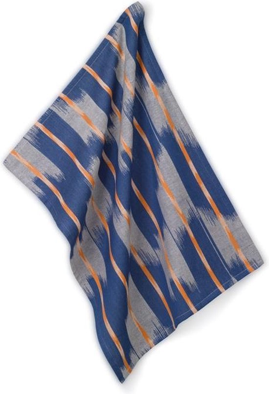 Theedoek, Oranje / Blauw - Kela   Ethno