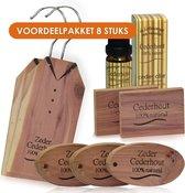 VOORDEEL Cederhout pakket anti mot 8 items tegen motten