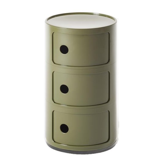 Kartell - Componibili 3 lades Green