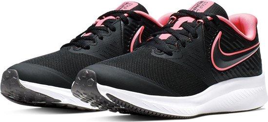 Nike Sneakers - Maat 36 - Meisjes - zwart/roze/wit