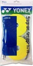 YONEX AC102EX ROL 30 SUPER GRAP - Geel