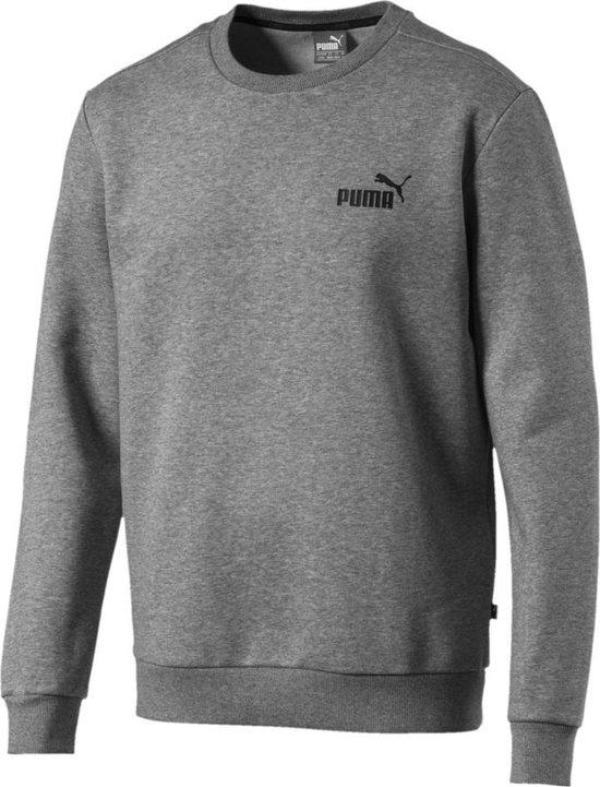 PUMA Essential Logo Crew Sweat FL Trui Heren - Medium Gray Heather - Maat M
