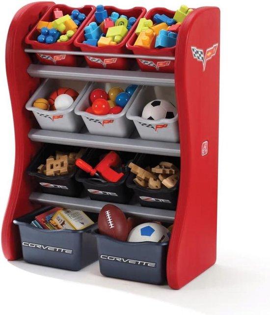 Step2 Speelgoedorganiser voor kinderen Corvette