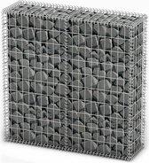 vidaXL Schanskorf met deksels 100x100x30 cm gegalvaniseerd draad