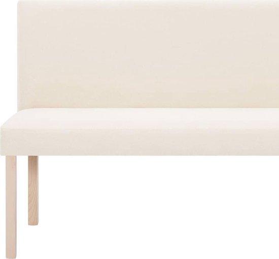 vidaXL Bankje 139,5 cm polyester crème
