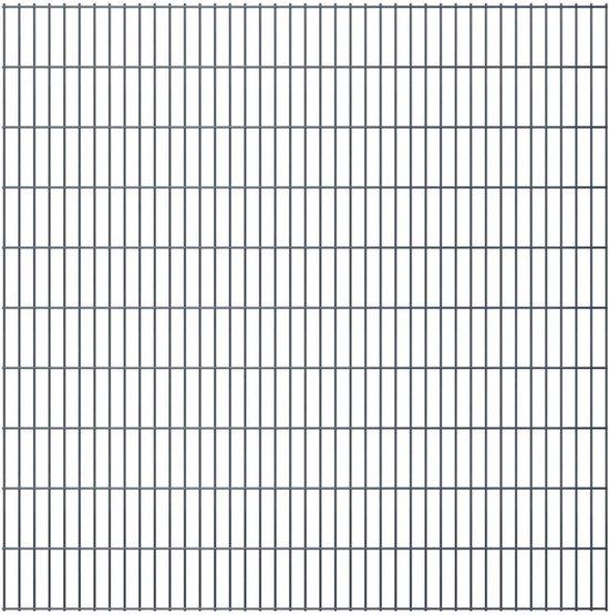 vidaXL Dubbelstaafmatten 2008 x 2030mm 30m Grijs 15 stuks