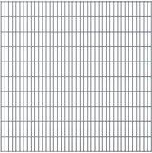 vidaXL Dubbelstaafmatten 2008 x 2030mm 22m Grijs 11 stuks