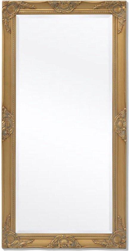 vidaXL Wandspiegel Barok 120 x 60 cm goud