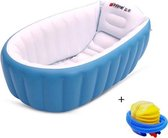 WiseGoods - Babybadje - Opblaasbaar Badje - Opvouwbaar Bad - Kinderbadje - Inclusief Luchtpomp - Blauw
