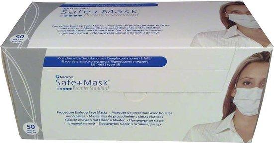 Afbeelding van Mondmaskers met elastiek 50 stuks per doos