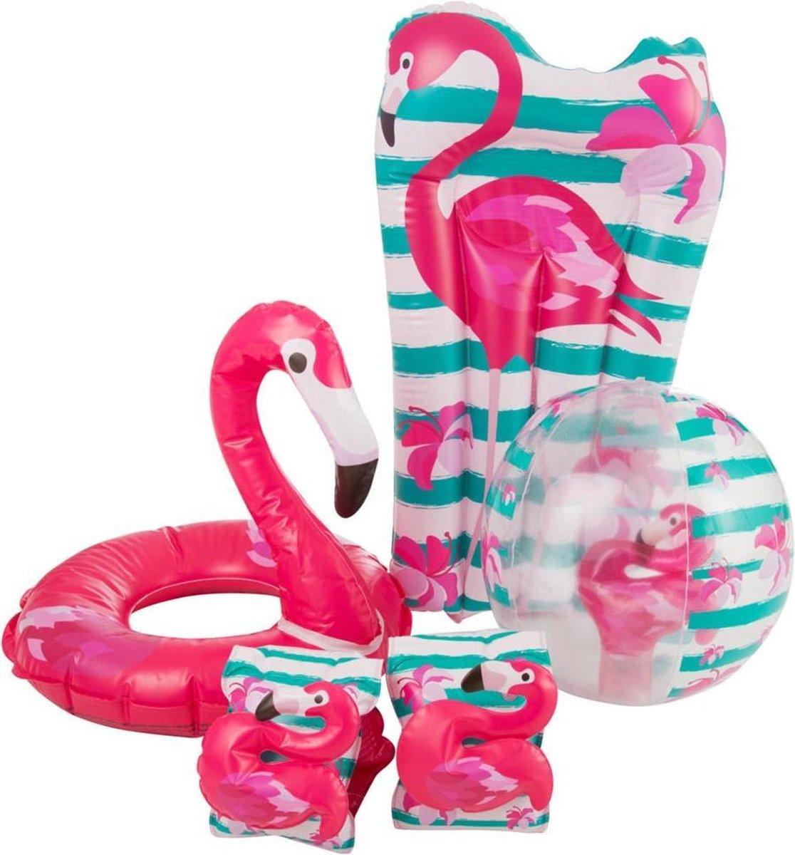 Flamingo Zwem Set 5-delig