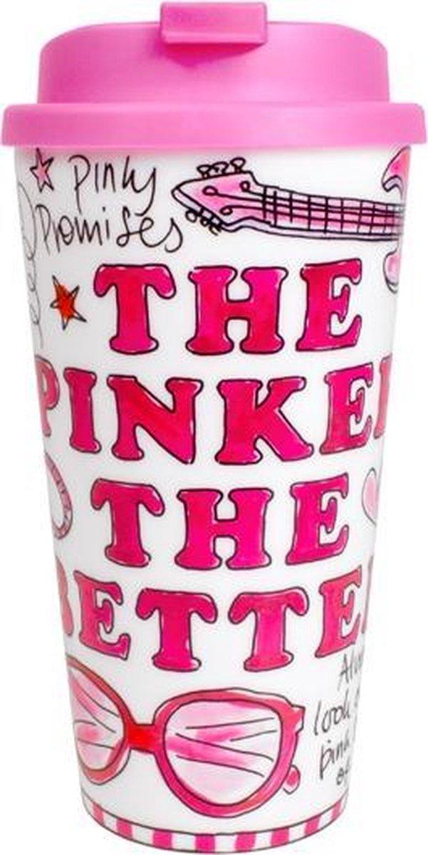 Blond Amsterdam Coffee to go Pink Days - 400 ml - Met deksel