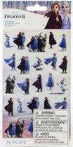 Disney - Frozen 2  - Stickers met kleine karakters - 50 stuks