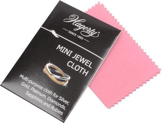 Zilverpoets  Mini Professioneel Juwelen & Sieraden Doekje 9 x 12 cm / Geimpregneerd stof doekje voor onderhoud van juwelen en kostbare stenen - MINI JEWEL CLOTH