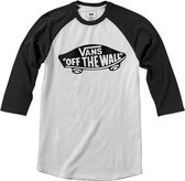 Vans OTW Raglan Heren T-shirt - White/Black - Maat L