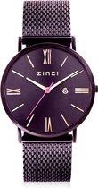 Zinzi Roman Paars Horloge ZIW516M + gratis Zinzi armbandje