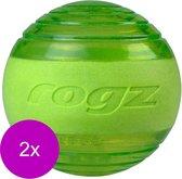 Rogz Squeekz 6.4 cm - Hondenspeelgoed - 2 x Lime