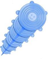 Herbruikbare siliconen vershoud deksel - stretch afsluitdeksel - set van 6