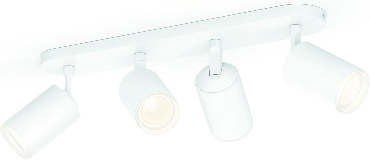 Philips Hue Fugato Opbouwspot - White and Color Ambiance - GU10 - Wit - 4 x 5,7W - Bluetooth