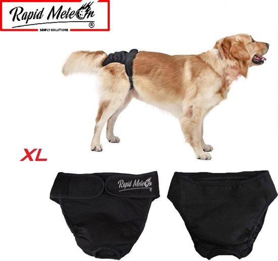 Rapid Meteor® Hondenluier / Loops broekje / Wasbaar - Honden Luier - XL - Zwart