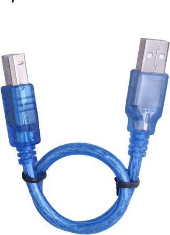 WiseGoods - Premium Printer Kabel - USB Printer Kabel - USB A naar USB B Kabel - 1.5 Meter - Blauw