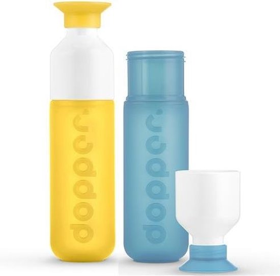 Dopper - duo set 2 kleuren - Yellow en Lagoon