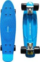 SWASS Vinyl Cruiser - Skateboard Penny Retro - Blauw/Zwart