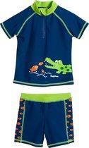 Playshoes UV zwemsetje Kinderen Krokodil - Blauw - Maat 74/80