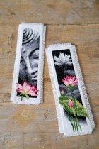 Bladwijzer kit Lotus en Boeddha set van 2 - Vervaco - PN-0155652