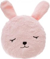 Sierkussen - Hoofdkussen Kind  -Kinderkussen - kussen Konijn Roze 27 cm -  Kinderkussen Konijn -  Mouwkussen Knuffel Konijn
