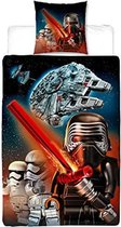 LEGO Star Wars Graphic Flanel - Dekbedovertrek - Eenpersoons - 135 x 200 - Multi