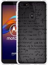 Motorola Moto E6 Play Hoesje Wiskunde zwart