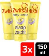Zwitsal Baby Slaap Zacht Body Crème Lavendel - 3 x 150 ml - Voordeelverpakking
