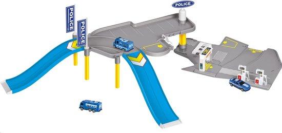 Afbeelding van Free And Easy Politiegarage Incl. 5 Voertuigen Blau speelgoed