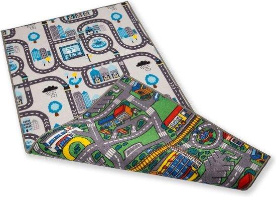 Afbeelding van Speelkleed dubbelzijdig 100 x 200 cm - Speeltapijt speelgoed